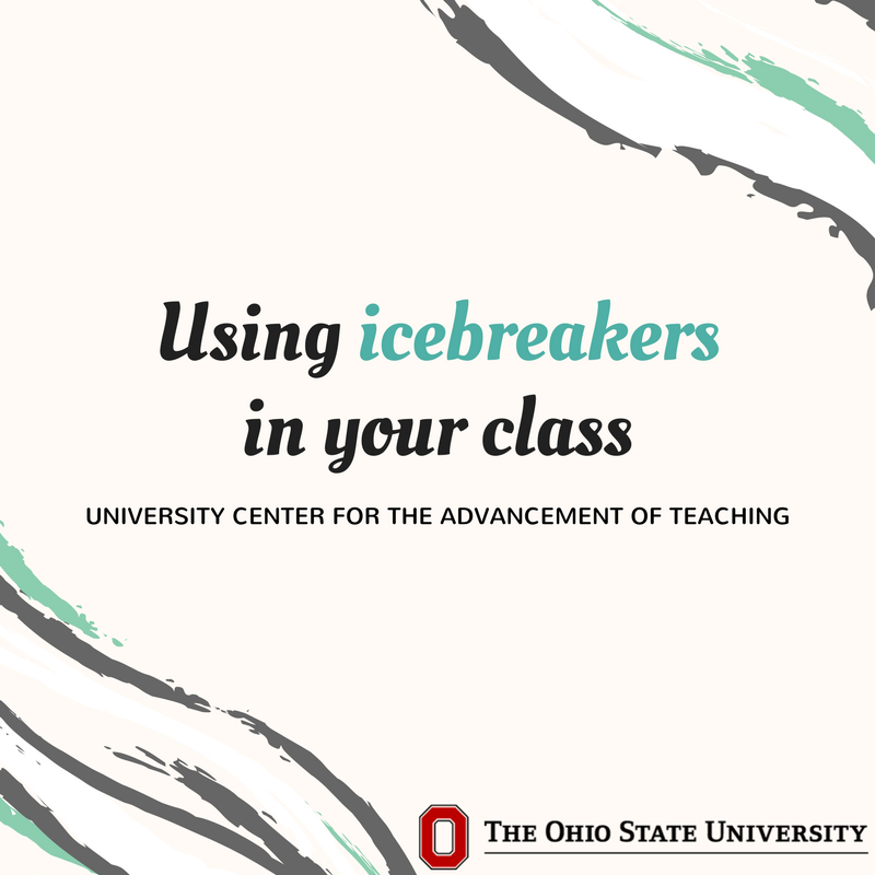 Welcome to @OhioState summer session. What icebreakers do you use in your class? Asking students to share what they want to learn from your class gives them a sense of empowerment with course material, and you an idea of what interests them most. https://t.co/o8k8AWwOfU