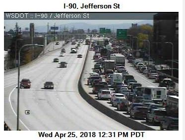 Better Avoid I 90 In Downtown Spokane For Awhile This Afternoon Car Carrying Truck Lost Its Load Mess Is Going To Take Some Time Clean Up