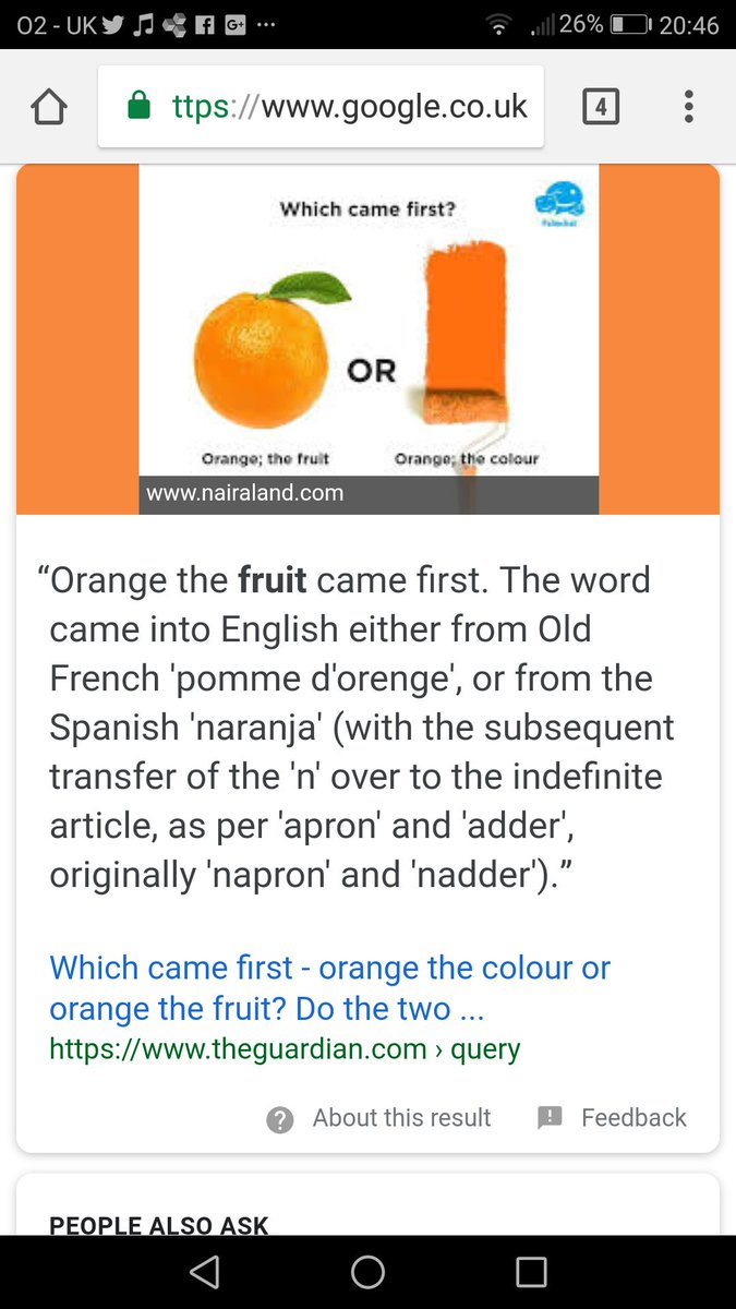 Trampa On Twitter Is The Color Orange Called Orange Because Of