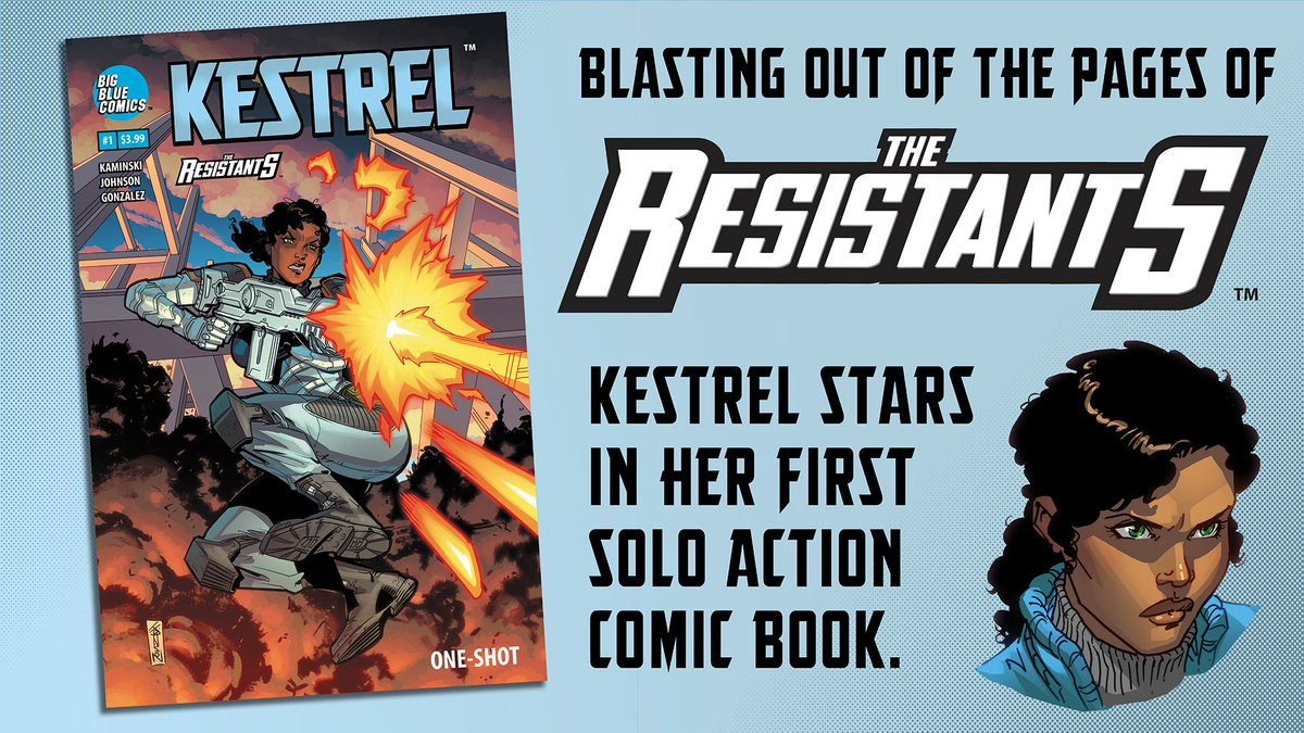 Want to pledge to a @kickstarter but don&#39;t know which one? Try  http:// buff.ly/2Haq7Ta  &nbsp;   for high-action science fiction comic book adventure starring Kestrel from @TheResistants. Written by @kjkaminski11, Art by @JasonJohnsonArt, and colors by @DeffectX. #comics #sciencefiction<br>http://pic.twitter.com/mNg9Nnsij1