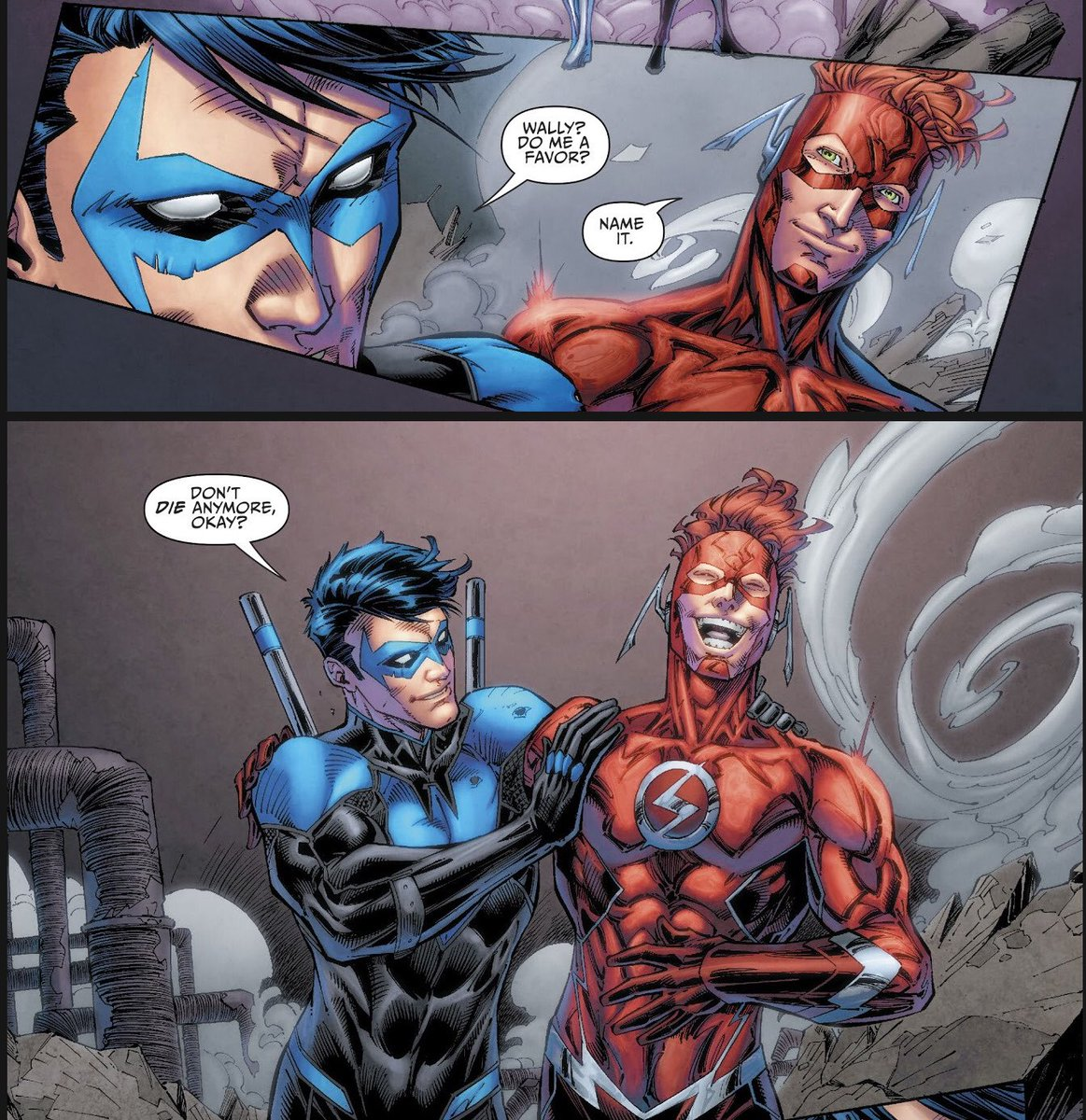 Nightwing speaks for all of us!   #TheFlash #Flash #WallyWest #DoYouEvenComicBook #DYECB #comics #Nightwing #NCBD  @ComicsFred @Rob_readscomics @KeithOneShot518 @AJ_ShopTalk @GradeAComics<br>http://pic.twitter.com/iwzqAXqmUf