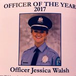 Image for the Tweet beginning: Congratulations to Officer Jessica Walsh