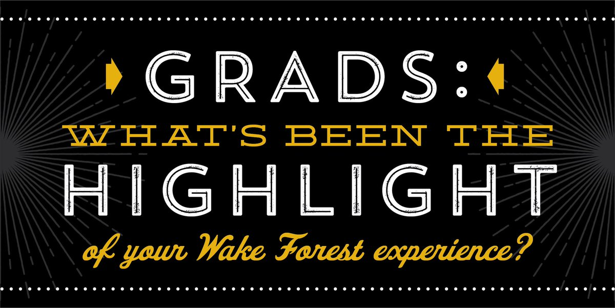 Hey #bizdeacs: What's been the highlight of your @wakeforestbiz experience? Share it on Memory Lane: https://t.co/uMyB3NBCaX