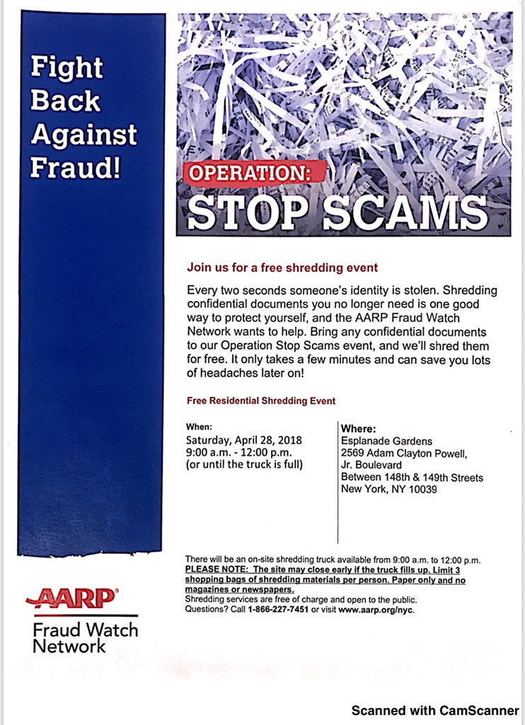 Aarp Shredding Event Nyc 2018