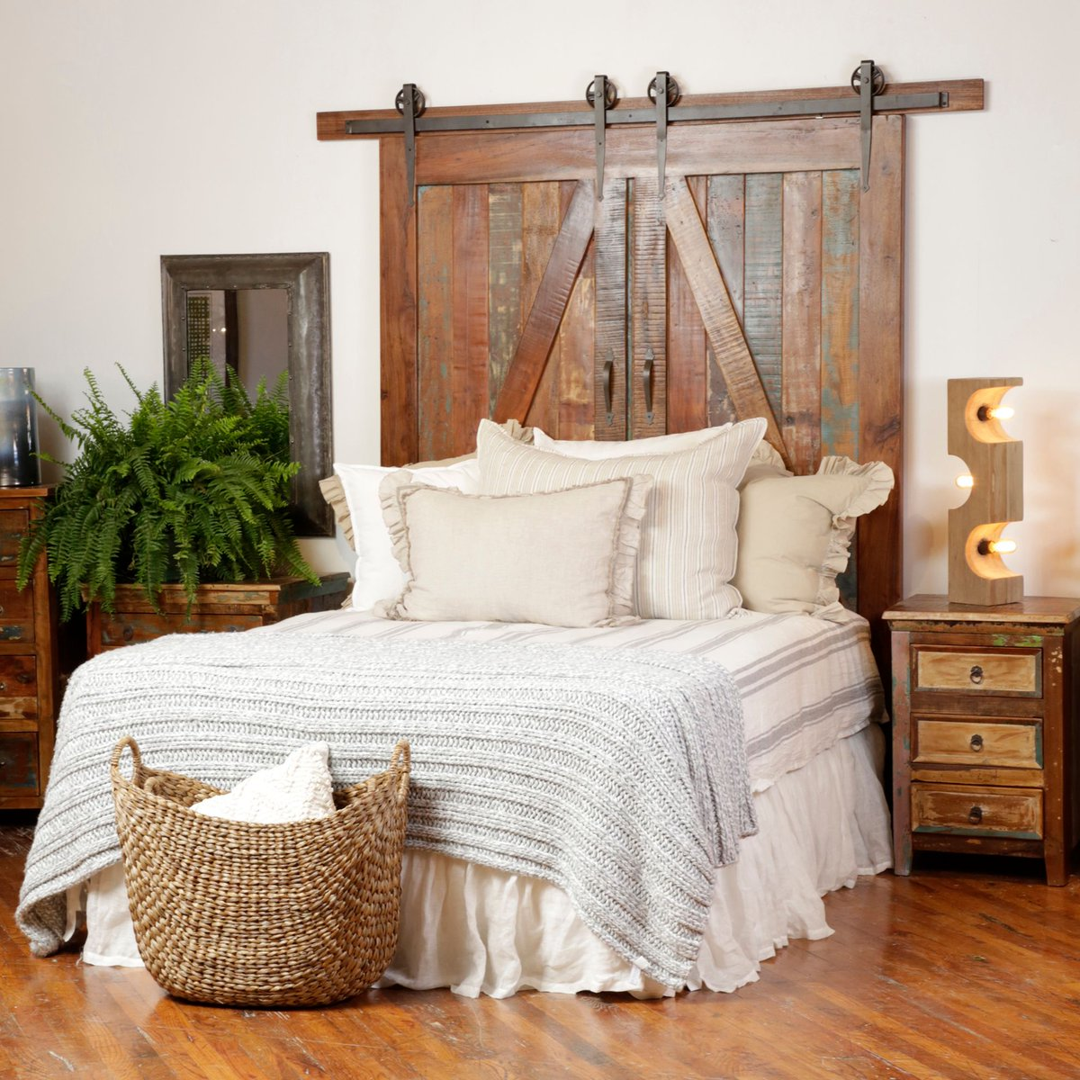 Dovetail Furniture On Twitter Look At This Beautiful Barn Door Headboard One Of The Many Dovetail Pieces Displayed In Our Recent High Point Showroom This Manning Headboard Features Reclaimed Mixed Wood