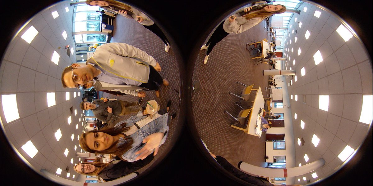 Our Lehigh #journalism students explored 360 video today with @JeremyLittau and I in our Multimedia Storytelling class. They learned about the immersive possibilities of the platform, and also the potential awkwardness of production.<br>http://pic.twitter.com/g5hWJJELdd