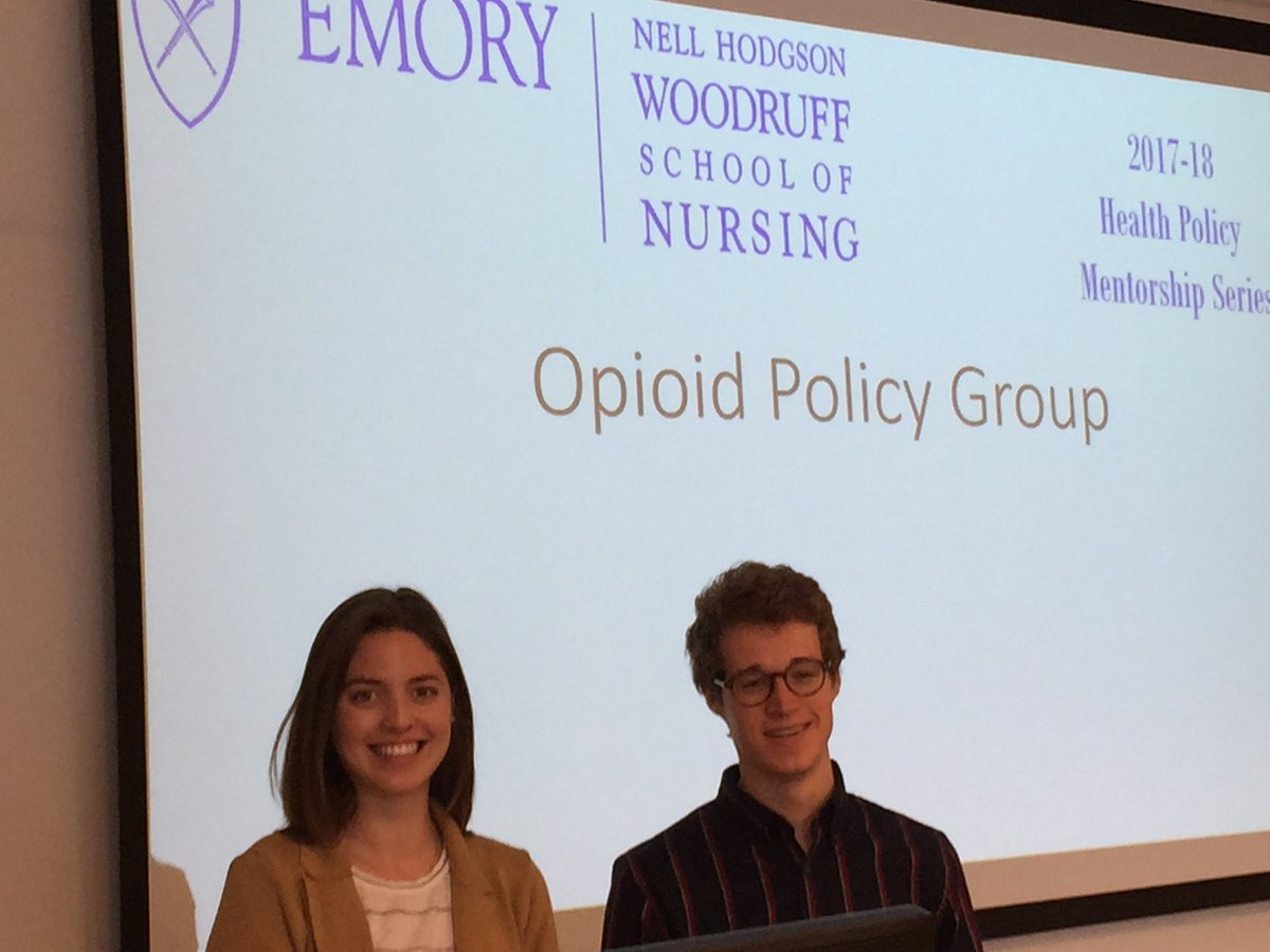 Nothing is more timely than the #opioidcrisis.  @EmoryNursing students @MarissaBergh and Colin McNamara are leading a group to help nurses influence #health #policy on the topic. <br>http://pic.twitter.com/VcSp5RgWjh