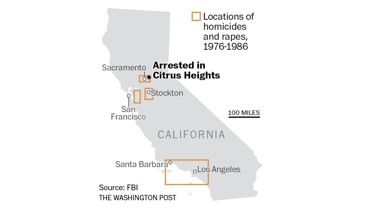 'Golden State Killer' suspect, a former police officer, arrested after DNA match, officials say https://t.co/k946dCr11O