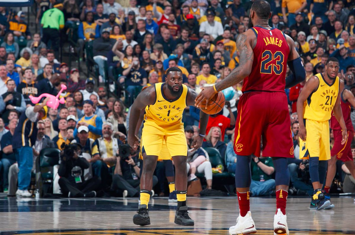 LeBron James is 10-19 shooting with 24 points and 2 turnovers when guarded by Lance Stephenson this series.