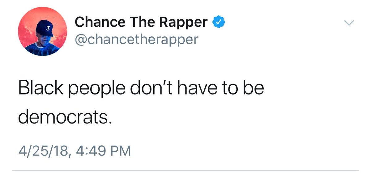 """After Kanye West Voiced Support For President Trump, Chance The Rapper Says """"Black people don't have to be democrats"""""""