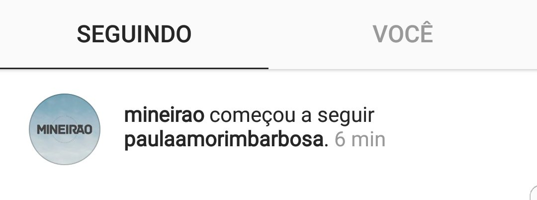 O @Mineirao acabou de seguir a @PaulaCABarbosa no instagram �� https://t.co/RBMedcKqwo
