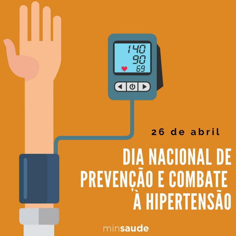 Hoje é Dia Nacional de Prevenção e Combate à Hipertensão. A doença, que atinge quase 25% da população brasileira, é silenciosa e geralmente não apresenta sintomas.  Saiba como prevenir  https://t.co/vrRc5KOz0Y