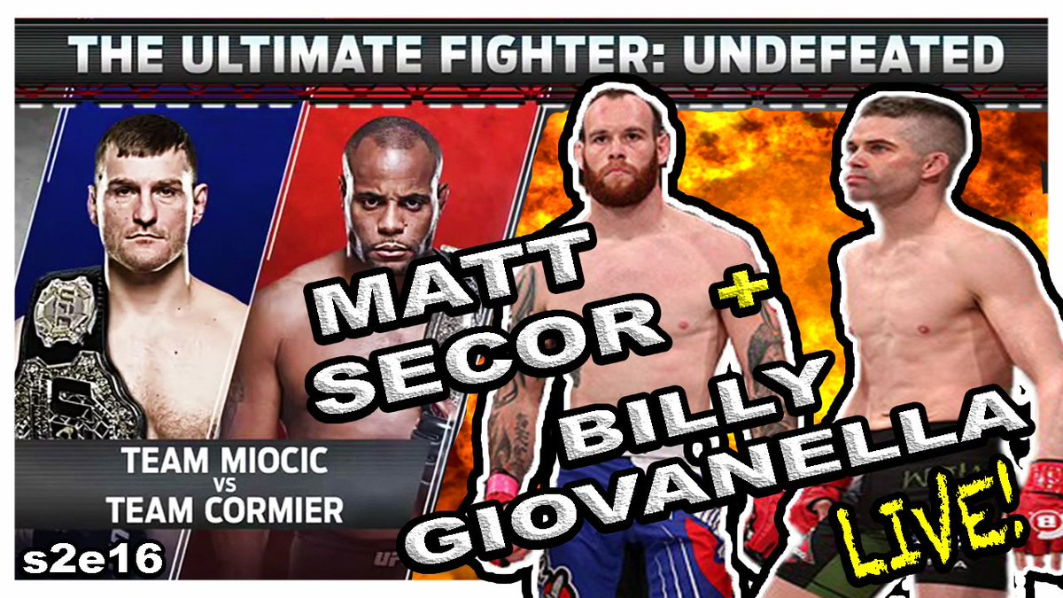 #MMA #FANS! WE WILL BE #LIVE - #TONIGHT @9pEST on @TheMMAholes #YOUTUBE #PODCAST:  #UFC #TUF27 #MIOCICvsCORMIER #REACTION + #MATTSECOR {@secormatthew} + #BILLYGIOVANNELLA {@BillyGiovanella} + #MMANEWS!  HERE!  https://www. youtube.com/watch?v=ic01kq k3PRc &nbsp; …   #TUNEIN #LIKE #SUBSCRIBE #RT<br>http://pic.twitter.com/UTLu0MsEPn
