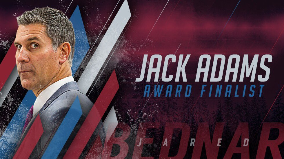 This honor is SO, SO DESERVED!  What a season, Coach. #GoAvsGo