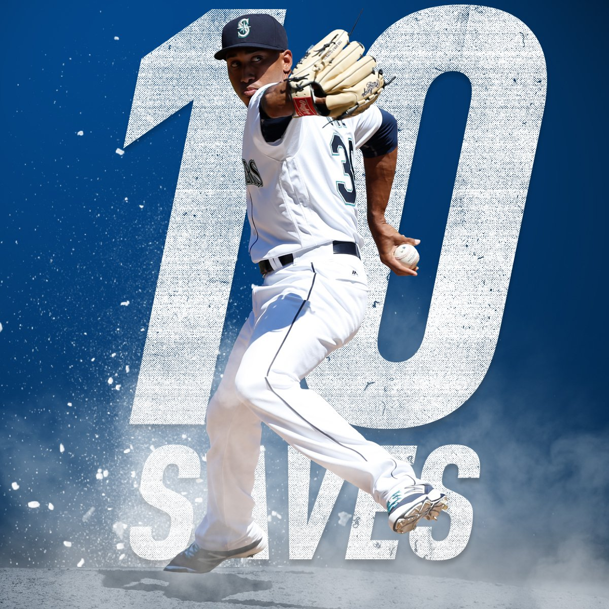 First in baseball to double-digit saves? That'd be @EdiDiaz44.