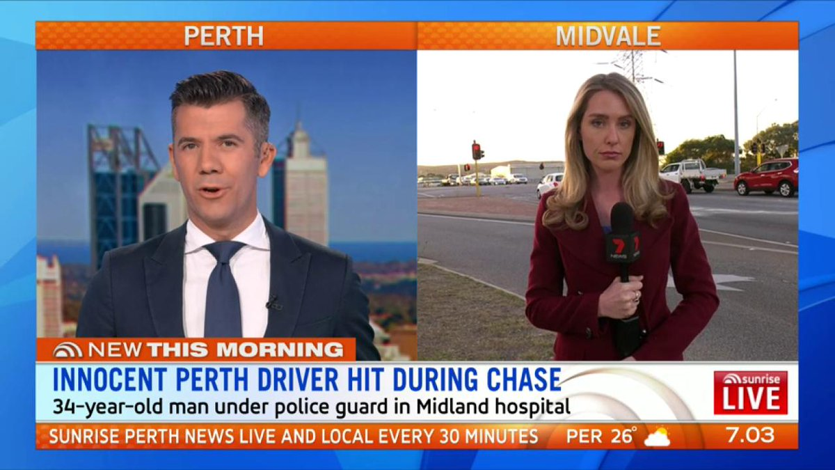 Image for the Tweet beginning: Innocent Perth driver hit by