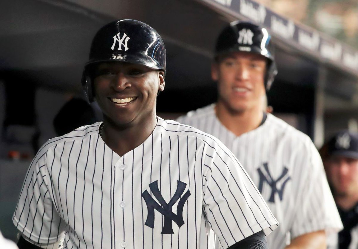 Didi Gregorius is the first shortstop in Yankees history to hit a home run in four straight games.  He has nine homers in April, matching Derek Jeter's career high for any single month (June 2004).