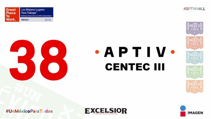 Lugar 38 Delphi Centec III #LasMejores2018 #MNSMenosde500 #UnMéxicoParaTodos https://t.co/09mH2pn5mQ