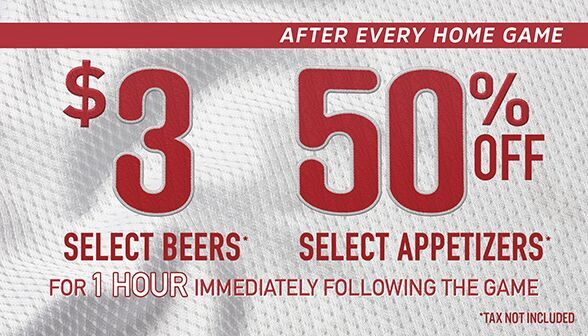 There may be $1 dogs at the ballpark tonight but we have $3 beers! See you after the game for our post-game specials!