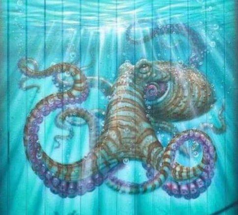 Three of a kind... #streetart #graffiti #art #octopus<br>http://pic.twitter.com/cznP9eBDov