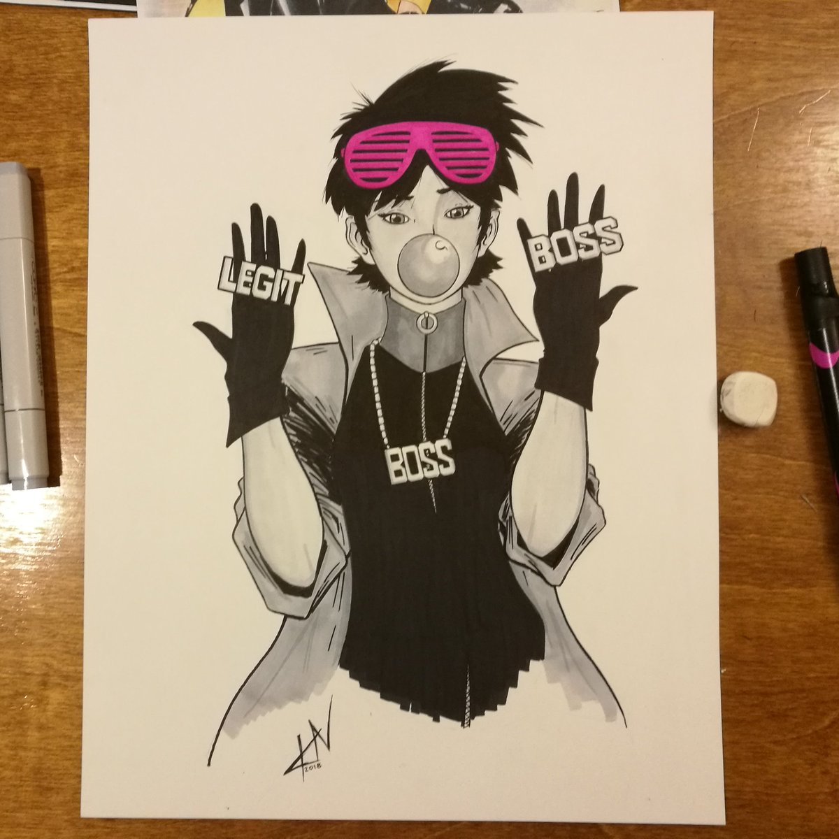 I don&#39;t know why but I feel like Jubilee would be a big fan of @SashaBanksWWE  #xmen #wwe<br>http://pic.twitter.com/6CZGBDvvPI