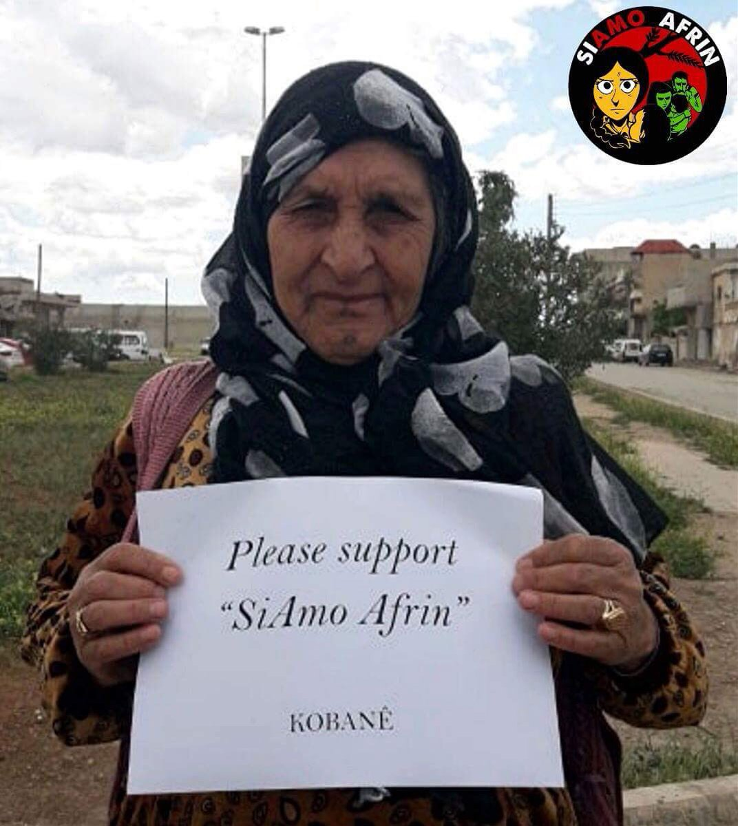 Support #SiAmoAfrin as the people of #Kobane hope. Please donate as thousands of people urgently need help. Every donation makes a difference! Donate:  https://www. retedeldono.it/it/progetti/gu s/siamoafrin &nbsp; …  #TwitterKurds #Afrin #Rojava #Syria #Kurds #Yazidi #BreakSilenceOnAfrin #AfrinNotAlone #AfrinResistance<br>http://pic.twitter.com/8c4vzMGGY0
