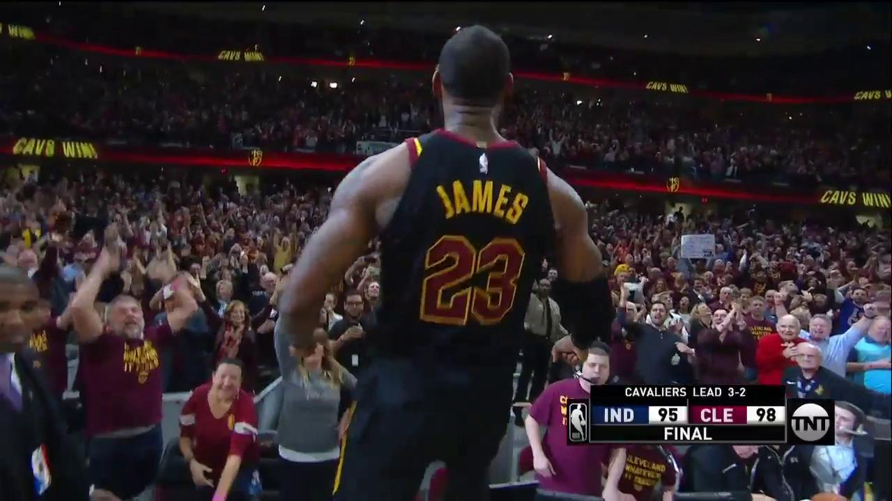 LEBRON JAMES FOR THE WIN!!! ������  #NBAPlayoffs | #AllForOne https://t.co/ISUUrKQC2p