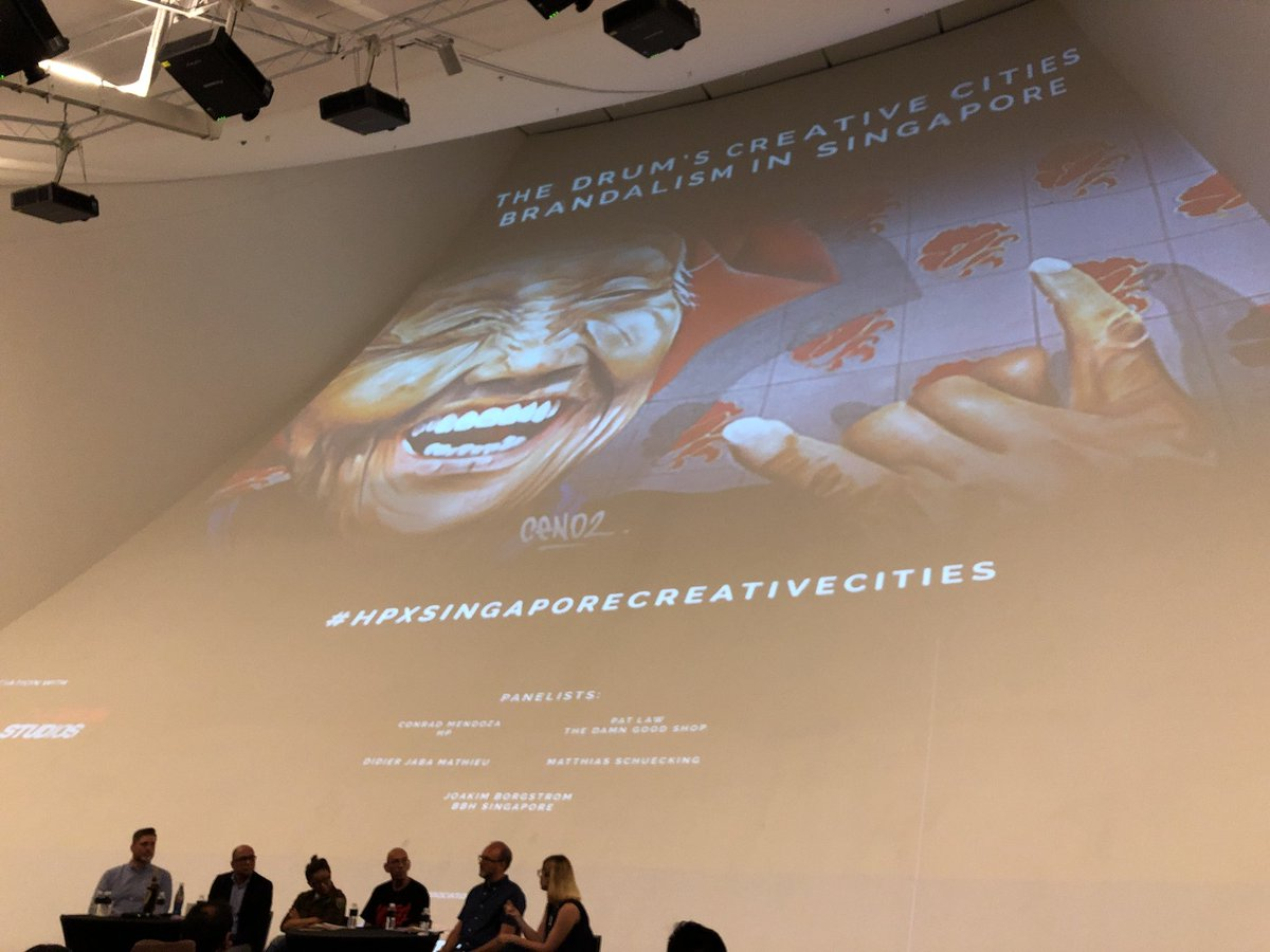 Brand and art coming together to create a synergy so strong - it will leave an everlasting impression @TheDrum #HPxSingaporeCreativeCities event #branding #art #marketing #creativity #innovation #graffiti #streetart @ArtSciMuseum<br>http://pic.twitter.com/bRCEDBIhA5