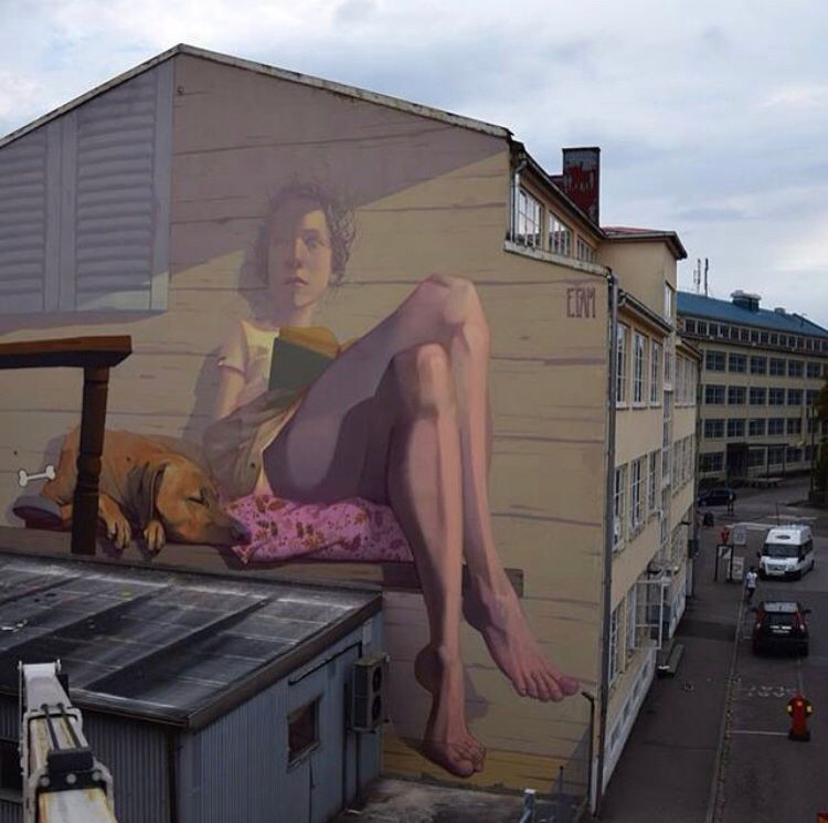 New work by ETAM CRU in Boras, Sweden #streetart #mural #graffiti #art<br>http://pic.twitter.com/DvxkDMSbaM