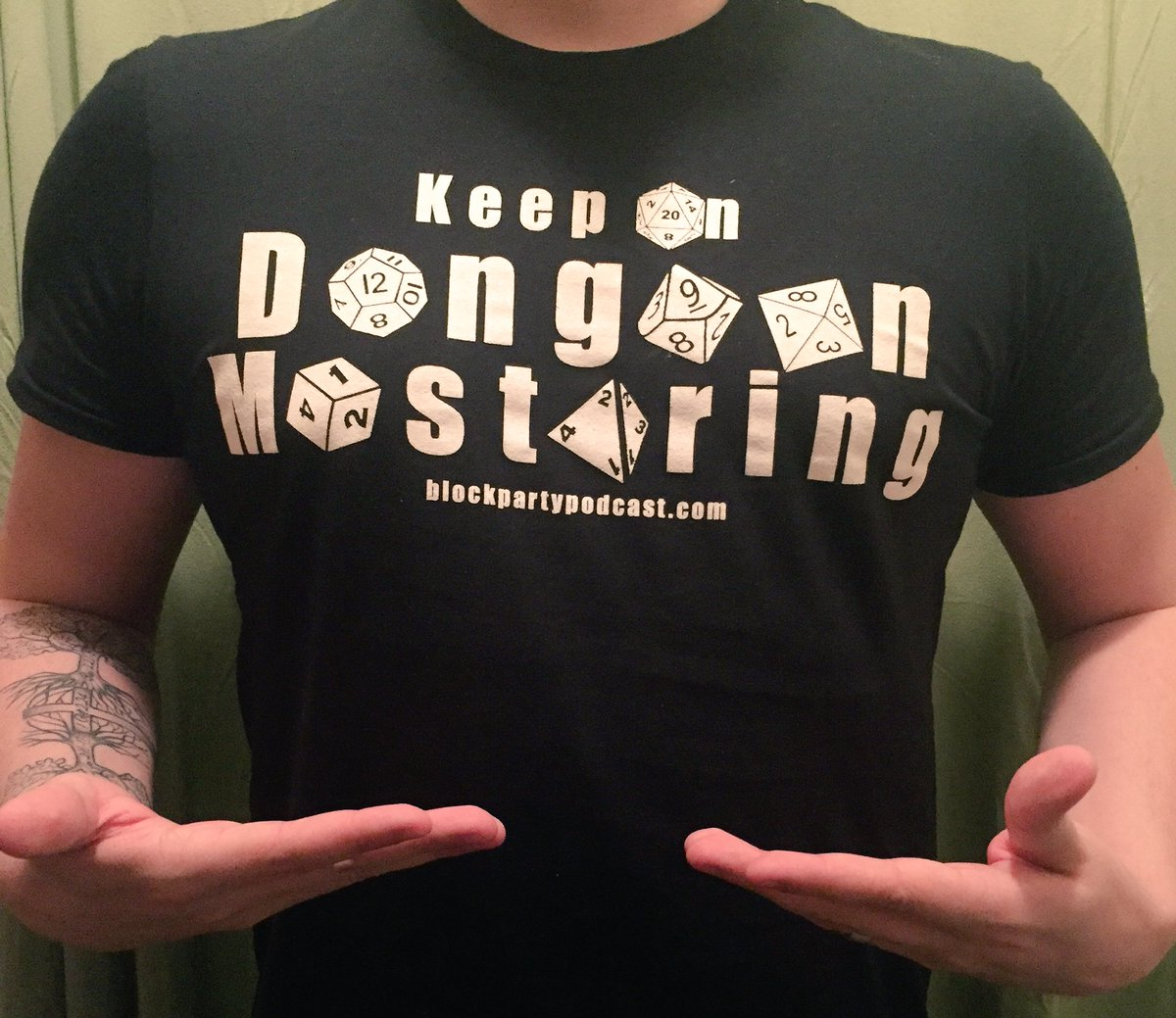 """Retweet &amp; Follow for a chance to win an exclusive """"Keep On Dungeon Mastering"""" T-shirt! 5 winners will be chosen! Winners will be announced May 25! (Small, medium &amp; large sizes only. Colors will vary) #dnd #rpg #tabletop #dungeonmaster #dmb #podcast <br>http://pic.twitter.com/sVX8hQqnKY"""