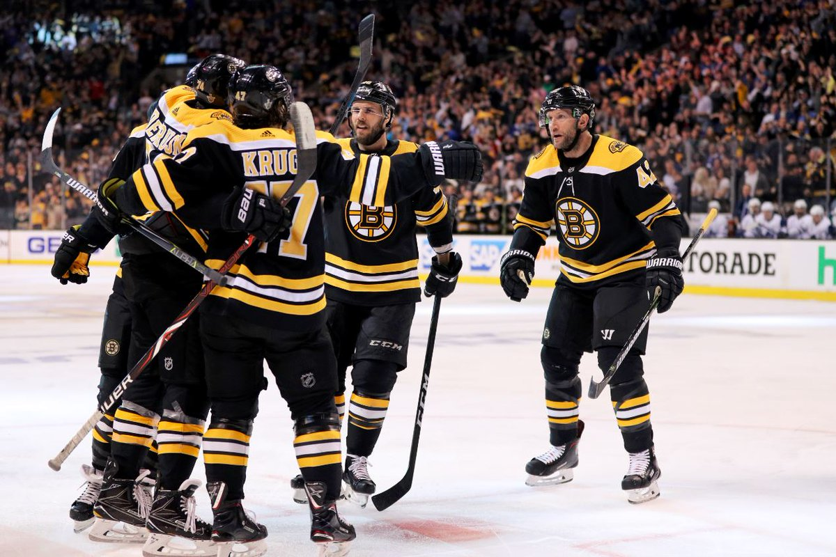 This was the 26th Game 7 in Bruins history, the most by any team.  The 7 goals are the most they have ever scored in a Game 7.  The Bruins move on to play the Lightning in the 2nd Round.
