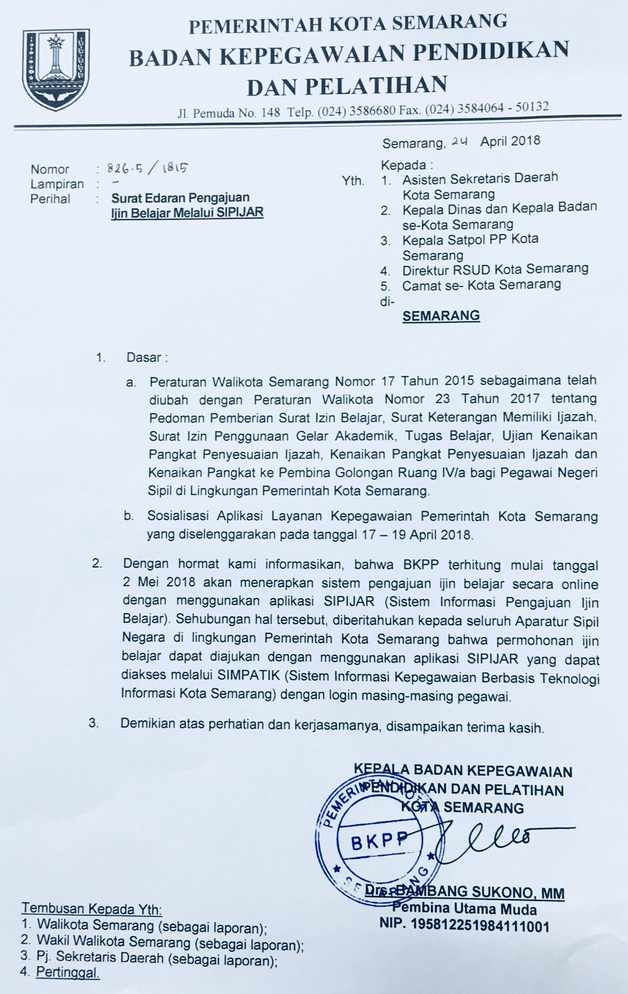 Bkpp Kota Semarang On Twitter Kabar Gembira Untuk