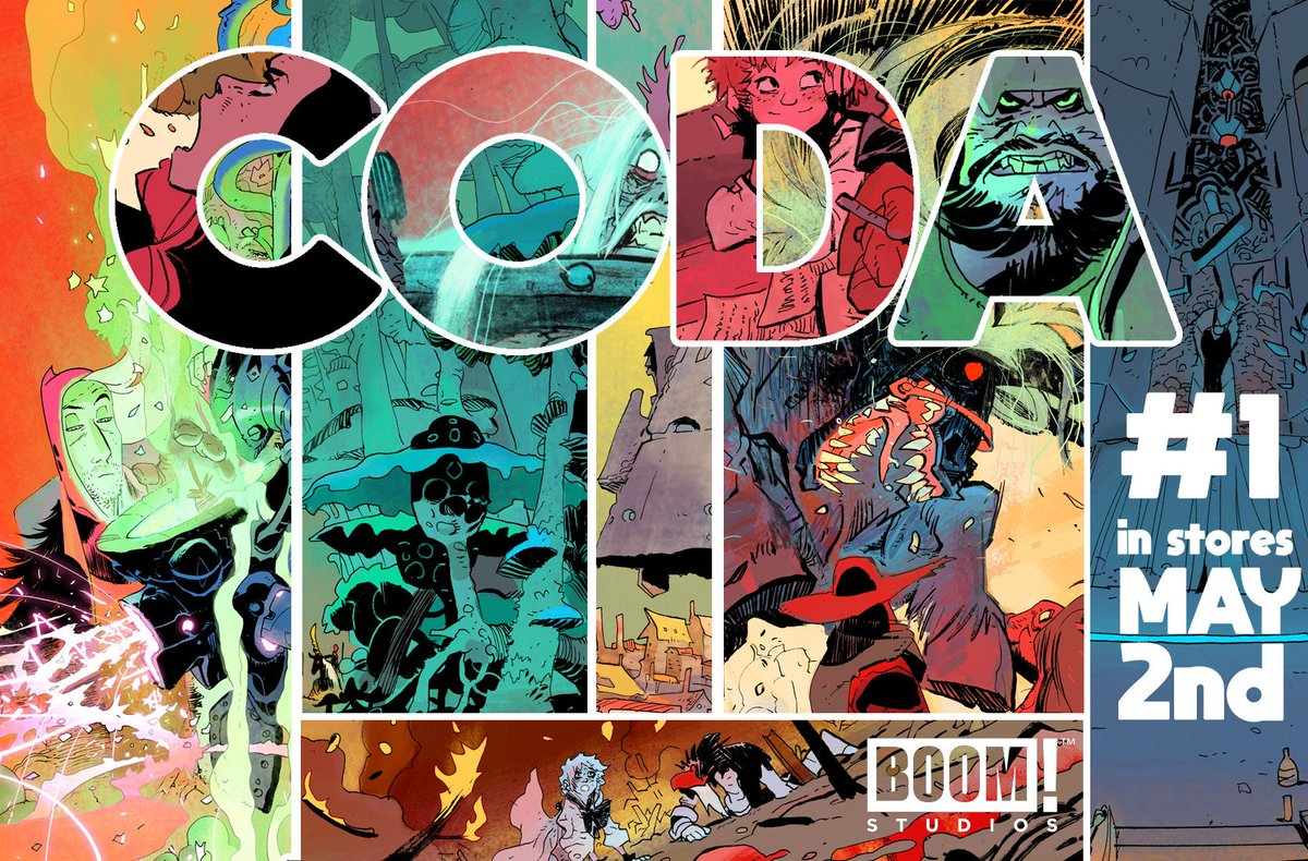 CODA #1 debuts this wednesday may 2nd!! written by the genius @sispurrier and published by @boomstudios  #comics <br>http://pic.twitter.com/hOIHFxLKHG