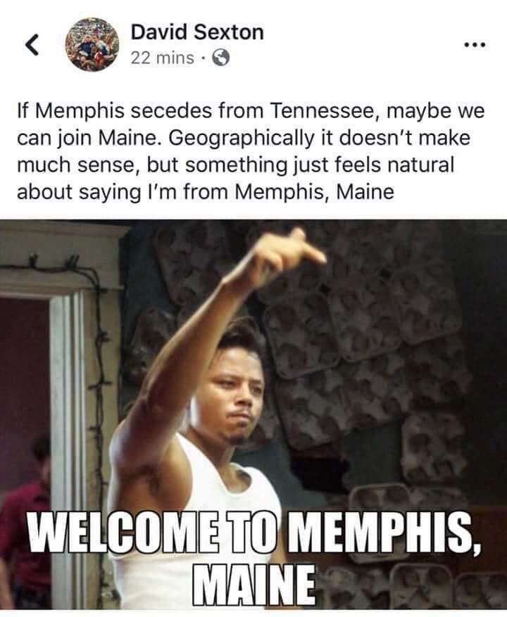 I&#39;m from Memphis, Maine #choose901 #Memphis <br>http://pic.twitter.com/6e8ps9fj9Z