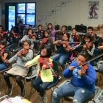 Image for the Tweet beginning: 5th graders learning how to