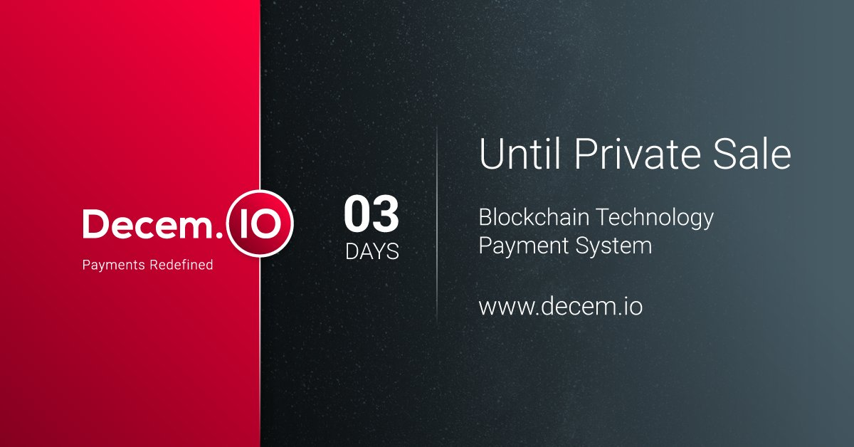 ARE YOU READY FOR PROFIT?   PRIVATE PRE/SALE OF #DECEM #TOKEN STRATS IN 3 DAYS!   LIKE ! RETWEET ! COMMENT !  #InvestInPeople #investments #ICO #Profit #profitability #Profit #app<br>http://pic.twitter.com/fURGwldNZr