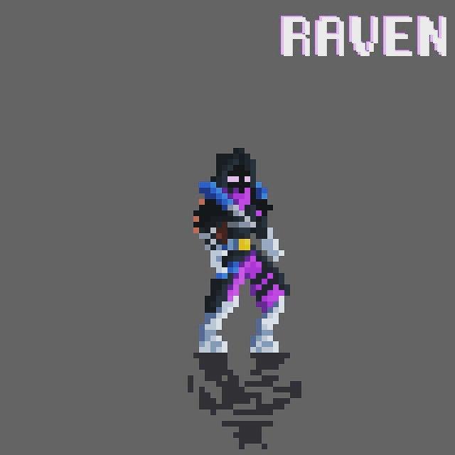 Omega Pixel On Twitter Raven From Fortnite Pixelart