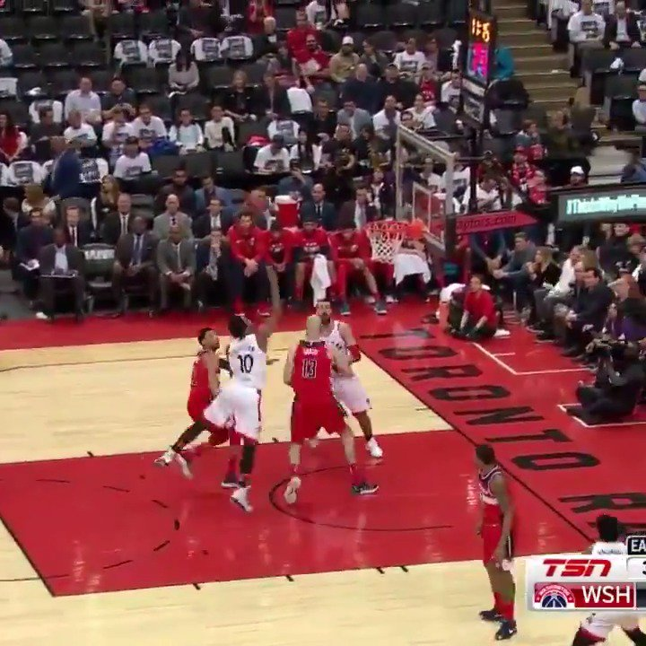 DeMar DeRozan drops game-high 32 PTS as the @Raptors take a 3-2 series lead back to DC! #WeTheNorth #NBAPlayoffs https://t.co/E83jrOtYSv