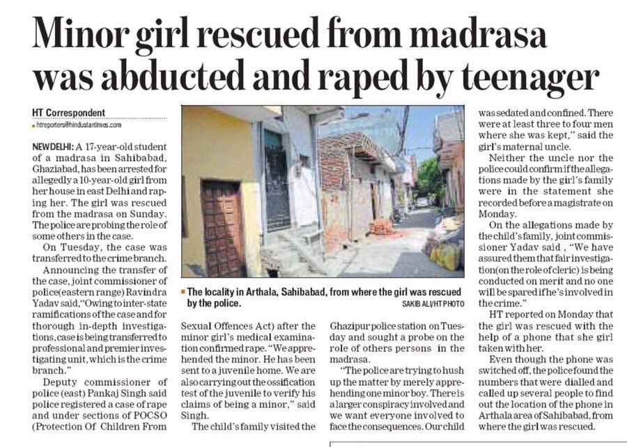 Dear @khushsundar, Geeta, a 10 years old, was abducted, sedated and raped for two days inside a Madrassa in #Delhi, hope you will stage a Dharna seeking #JusticeForGeeta like you did in #Asifa&#39;s case. A rape is a rape, isn&#39;t it?<br>http://pic.twitter.com/htYGHkpIEu
