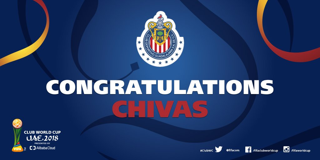Congratulations @Chivas - @Concacaf @TheChampions winners and heading for the #ClubWC UAE 2018