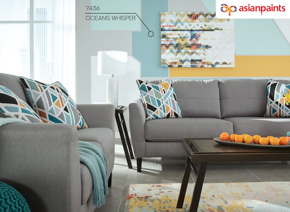 Find one piece (usually a pillow or rug) and use it to design the rest of the room. It will make sure the color scheme is on point, you have a basic style inspiration, and you have something that pulls the room together. #asianpaintsl #interiordesign #decortips #homedecor https://t.co/D86bPMDzz4