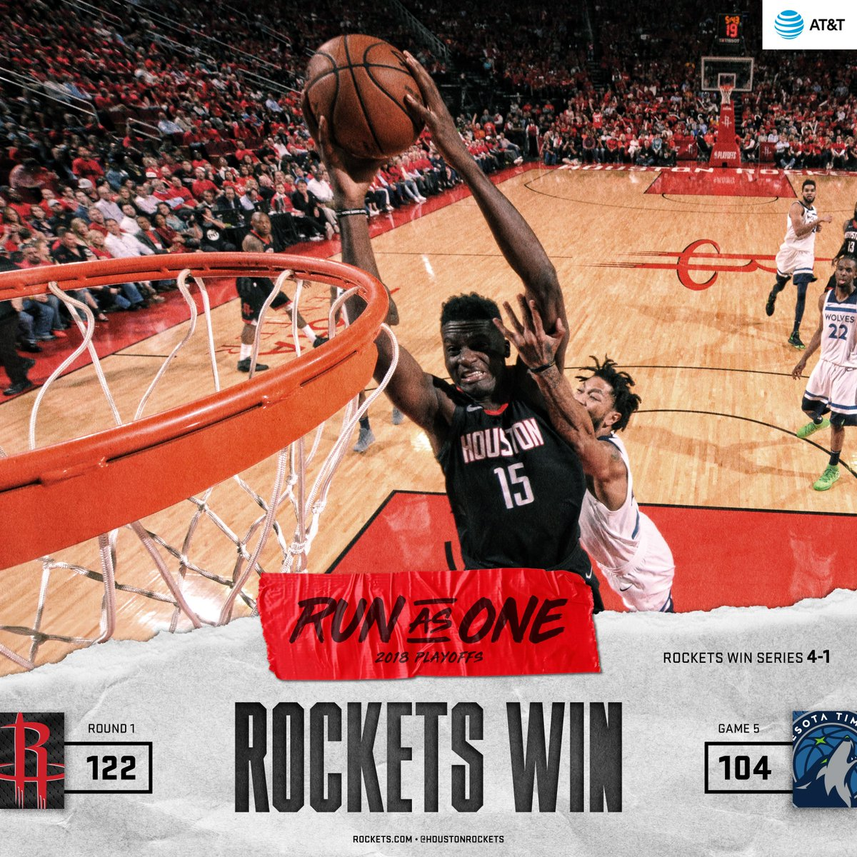 Let's go Rockets!!  #RunAsOne
