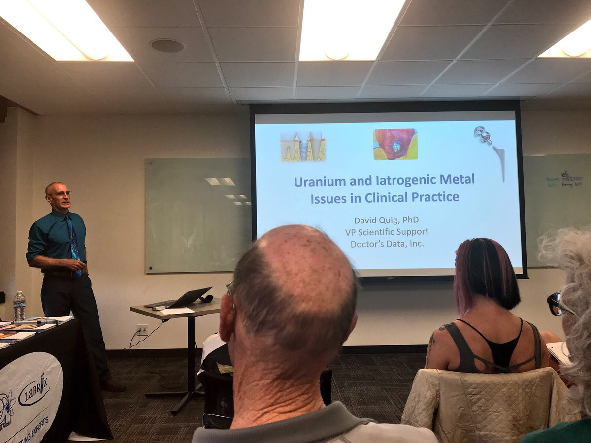 Great talk by @doctorsdata_inc David Quig, PhD about toxic effects of Uranium and Iatrogenic Metals from MRI scans and hip replacements #heavymetals #biology #orthopaedic #science<br>http://pic.twitter.com/ajlVPzj4hn