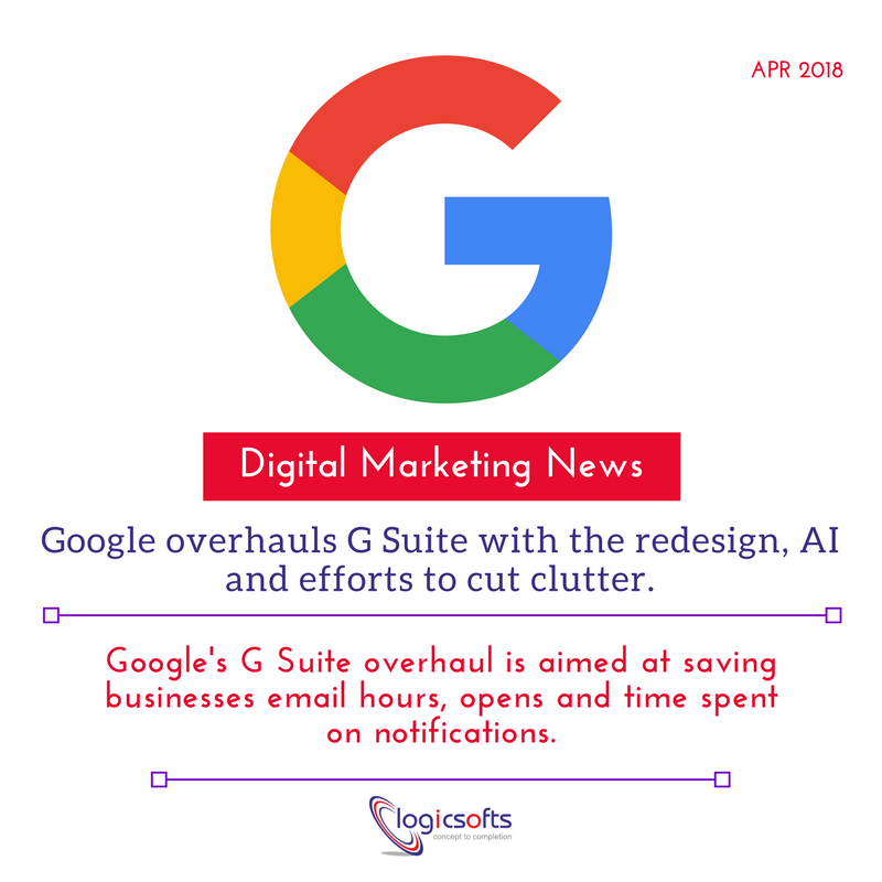#DigitalMarketingNews:    #Google overhauls #GSuite with the #redesign, #AI and efforts to cut clutter.  #DigitalMarketing #socialmediamarketing #marketingtips #OnlineBusinesses #startups #SEO #SMM #Tweet #tips #SocialMedia #DigitalTransformatio #NewsAlert<br>http://pic.twitter.com/xOevjtWMBg