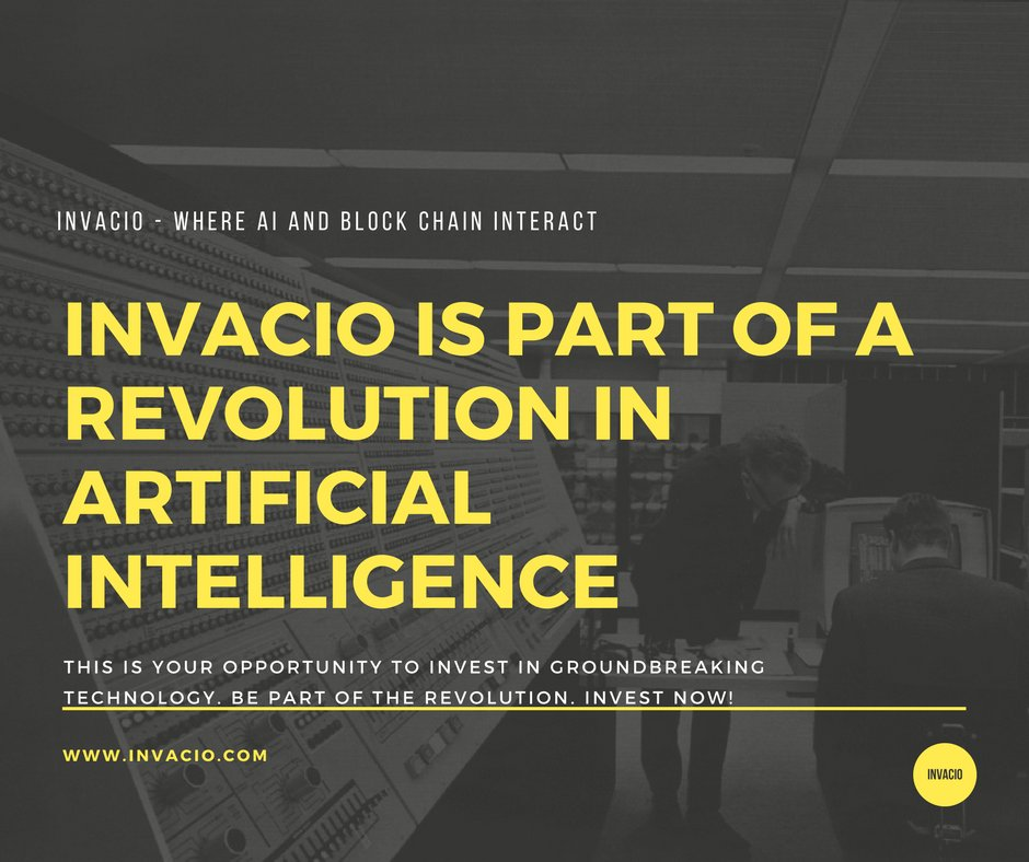 @Invacio is groundbreaking in a number of significant ways. This is an opportunity to invest in something huge. Check out  http://www. invacio.com  &nbsp;   and also their telegram page:  https:// t.me/InvacioICO  &nbsp;   @Suppoman_ @MichaelSuppo @IBMBlockchain @BillGates @elonmusk #AI #blockchain<br>http://pic.twitter.com/WwrNEzGTl0