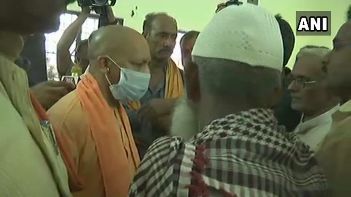 #Kushinagar accident: Uttar Pradesh Chief Minister Yogi Adityanath visits injured students and victims' families. 13 students have died in the accident.   (📷credit: ANI)