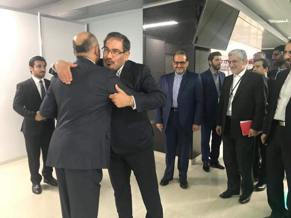 NSA MH Atmar met the secretary of Irans NSC Ali Shamkhani on Wednesday at the sidelines of Int'l Meeting of High Ranking Security Officials at Sochi, Russia. The sides talked&exchanged views about drug trafficking & various aspects of political, economic situation in the region.
