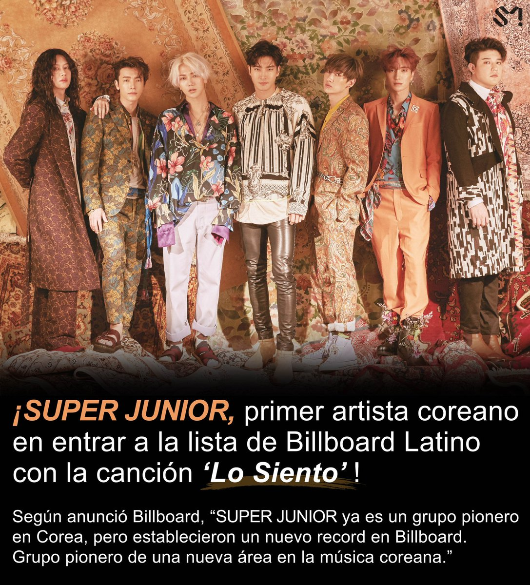 #SUPERJUNIOR has become the first Korean artist to enter #Billboard's #LatinCharts with '#LoSiento (Feat. Leslie Grace)' 🏆Enters Billboard's Latin DigitalSongSalesChart at No.13 for the first time ever in K-Pop history 🏆Enters Billboard's World DigitalSongSalesChart at No.2