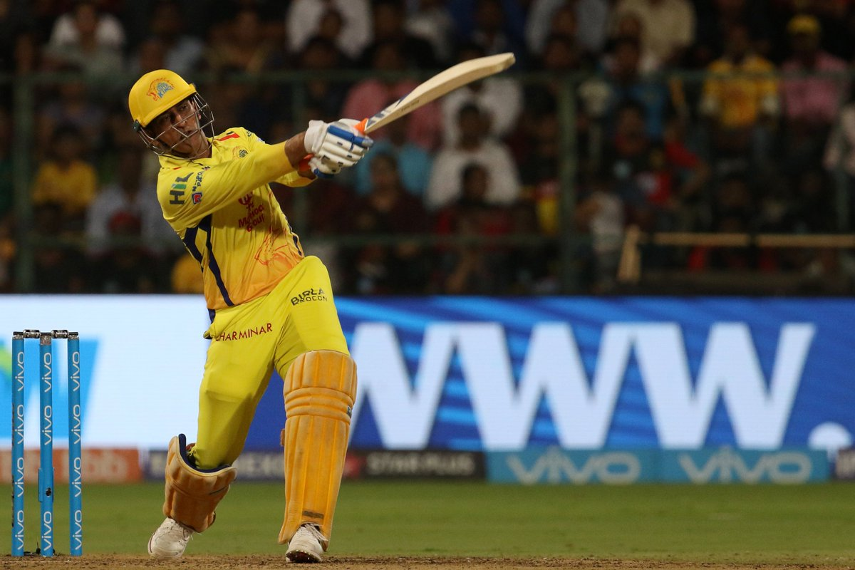 On the eve of the #CWC19 schedule announcement, @msdhoni showed he's still the master of a chase with 70* off 34 for @ChennaiIPL!  Stephen Fleming called it 'one of the best ones I've ever seen.'  https://t.co/rceej5gAp8