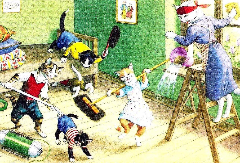 Картинки смешные уборка дома, открытки папе днем